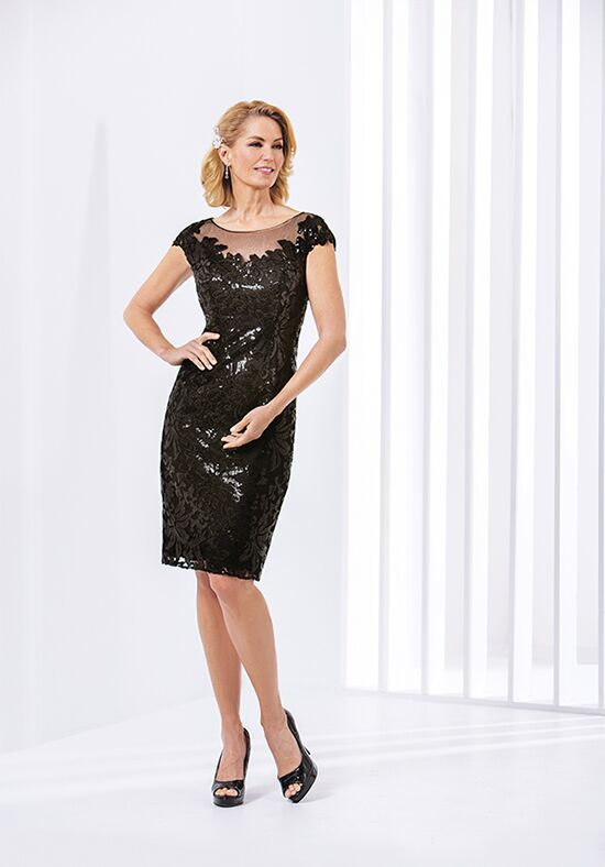 Jasmine Black Label M180064 Black Mother Of The Bride Dress