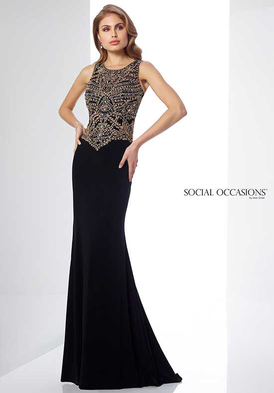 Social Occasions by Mon Cheri 217833 Black Mother Of The Bride Dress