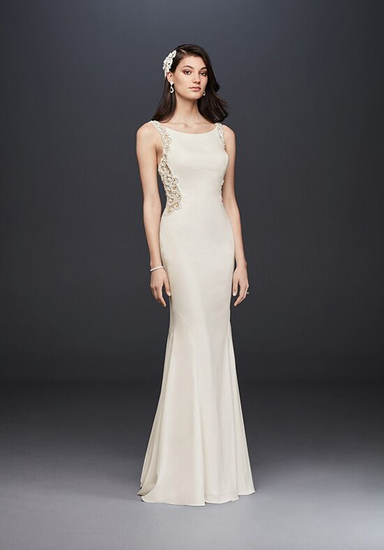 David's Bridal Galina Signature Style SV771 Sheath Wedding Dress