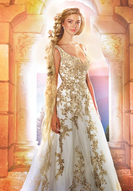 Alfred Angelo Disney Fairy Tale Weddings Bridal Collection 255 Rapunzel A Line Wedding Dress