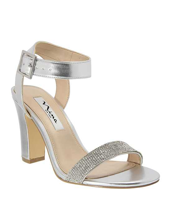 Nina Bridal Wedding Accessories Solange Silver Shoe