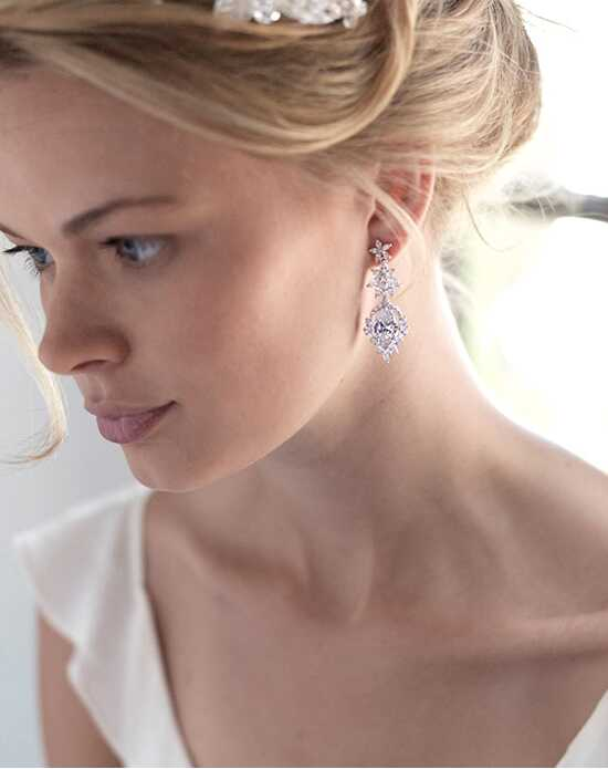 Dareth Colburn Kendall CZ Floral Earrings Wedding Earring photo