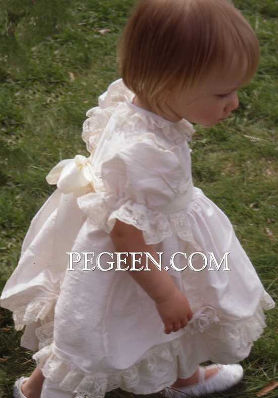 Pegeen.com 397 Black Flower Girl Dress
