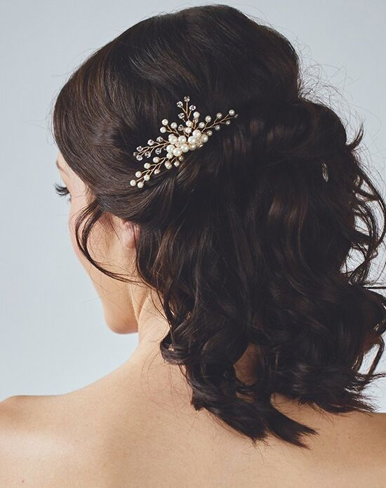 Davie & Chiyo | Hair Accessories & Veils Daphne Comb Gold, Ivory, Silver Pins, Combs + Clip