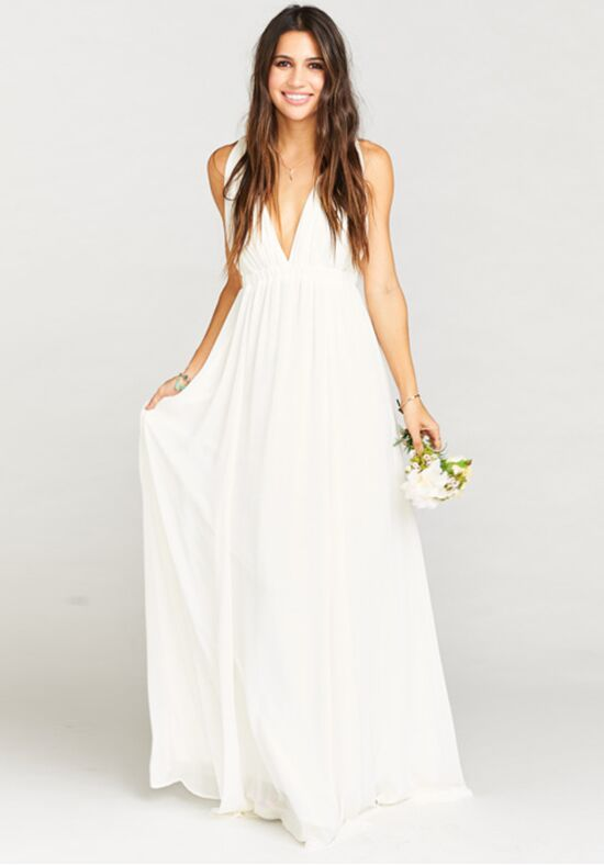 Ava Maxi Dress Wedding Cake Chiffon