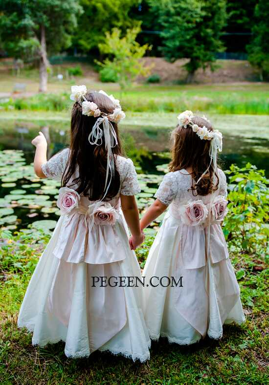 Pegeen.com 698 Black Flower Girl Dress
