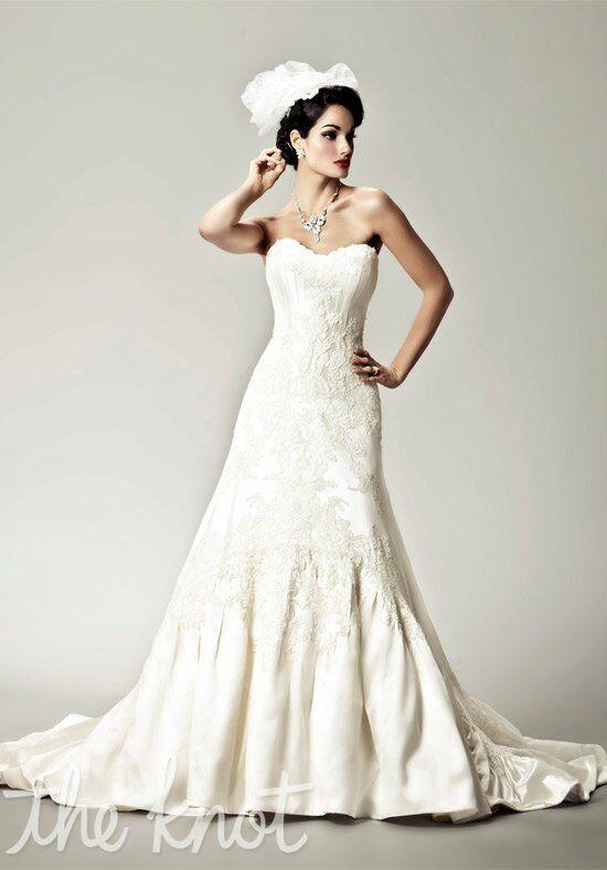 Matthew Christopher Poppy A Line Wedding Dress