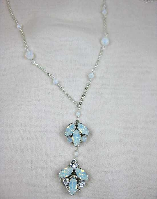 Everything Angelic Chandra Necklace - n328 White Opal Wedding Necklace photo