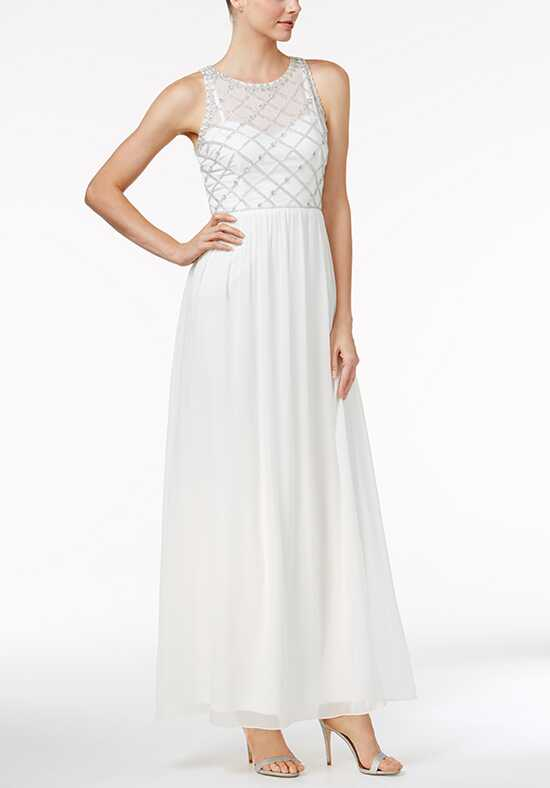 Adrianna Papell Wedding Dresses Adrianna Papell Beaded A-Line Gown-Scoop A-Line Wedding Dress