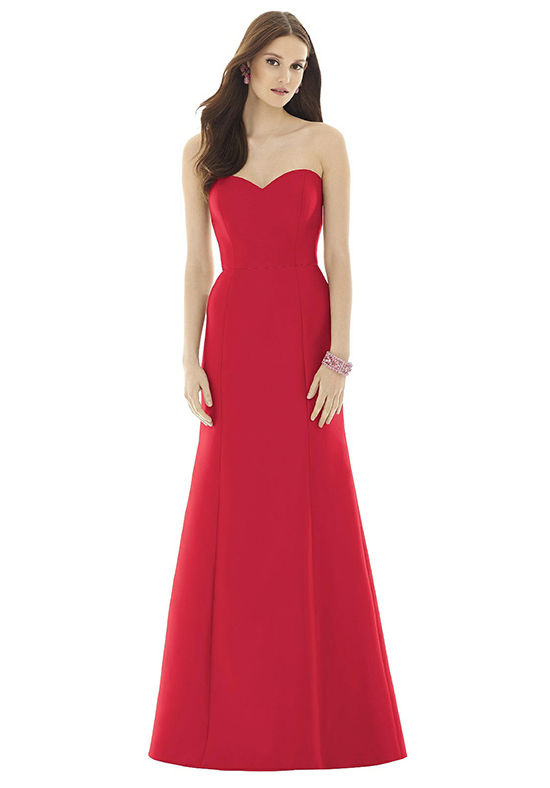 Alfred Sung D728 Sweetheart Bridesmaid Dress