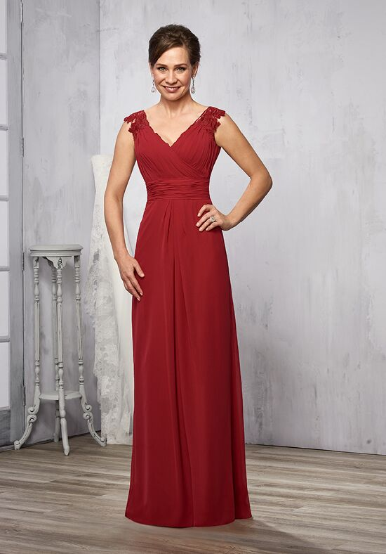 Beautiful Mothers by Mary's M2785 Red Mother Of The Bride Dress
