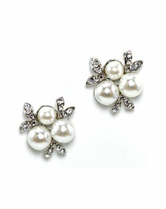 Anna Bellagio Trista Tri-Pearl Cluster Earrings Wedding Earring photo
