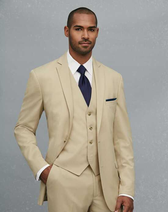 Jos. A. Bank 2-Button Notch Lapel Tan Suit Brown Tuxedo