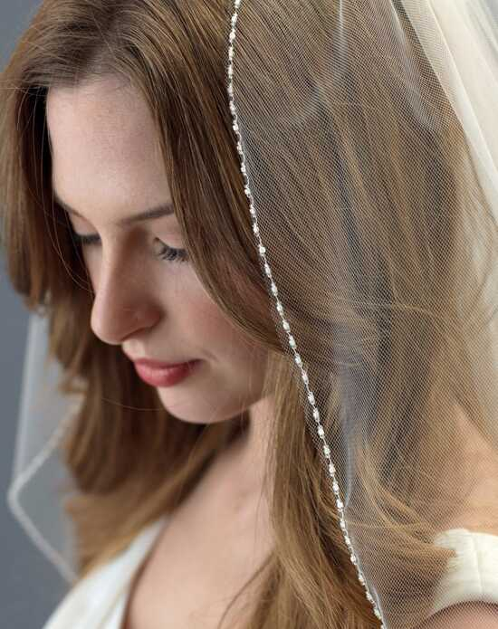 USABride Clara Delicate Beaded Wedding Veil (1 Layer) VB-5057 Veil