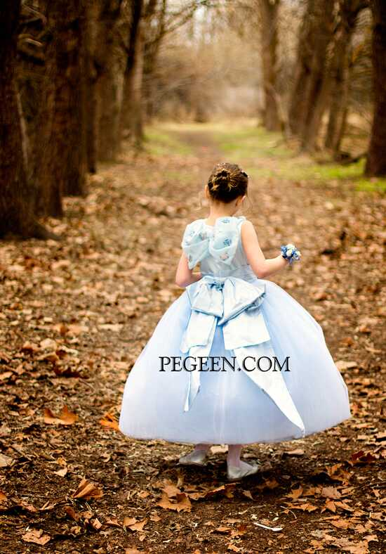 Pegeen.com 913 Blue Flower Girl Dress