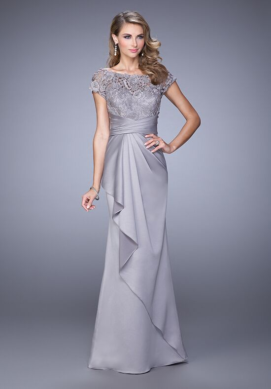 La Femme Evening 21620 Silver Mother Of The Bride Dress