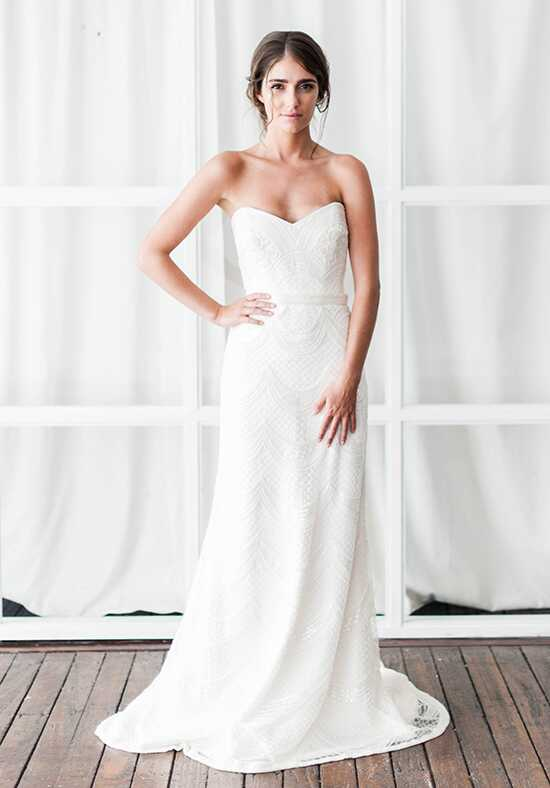 KAREN WILLIS HOLMES Ava Sheath Wedding Dress