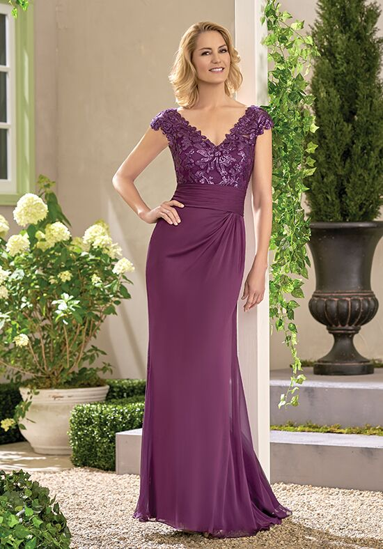 Jade J195017 Purple Mother Of The Bride Dress