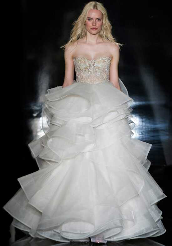 Reem Acra Rosetta Ball Gown Wedding Dress