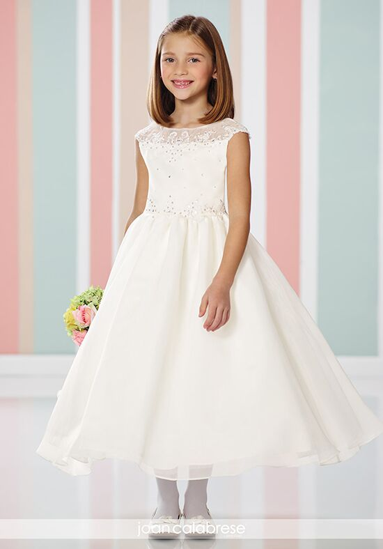 Joan Calabrese by Mon Cheri 216314 Ivory Flower Girl Dress
