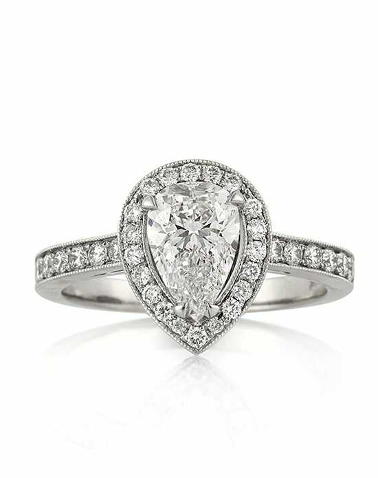 Mark Broumand Elegant Pear Cut Engagement Ring