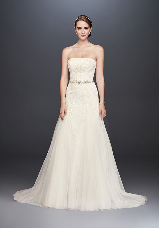 David's Bridal David's Bridal Style WG3862 Sheath Wedding Dress