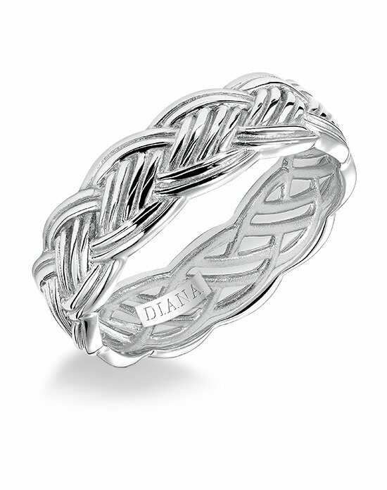 Diana 11-N86W7-G Platinum, White Gold Wedding Ring