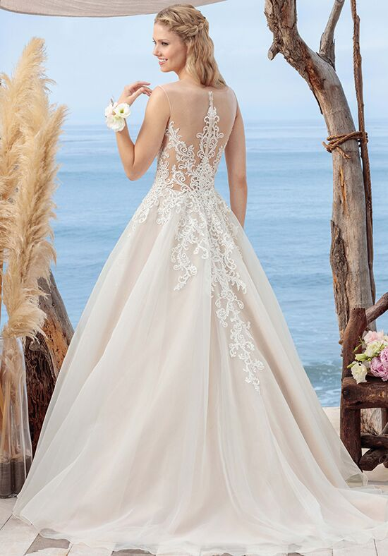 Beloved by Casablanca Bridal BL249 Coral A-Line Wedding Dress