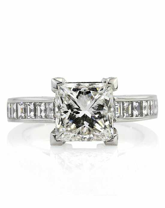 Mark Broumand 4.41ct Princess Cut Diamond Engagement Ring Engagement Ring photo