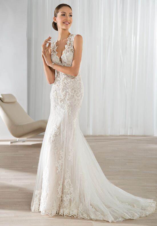 Demetrios 595 Mermaid Wedding Dress