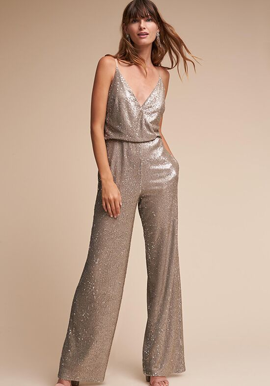BHLDN (Bridesmaids) La Lune Jumpsuit V-Neck Bridesmaid Dress