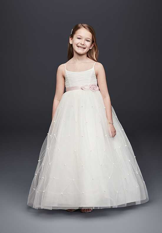 David's Bridal Flower Girl David's Bridal Style WG1369 White Flower Girl Dress