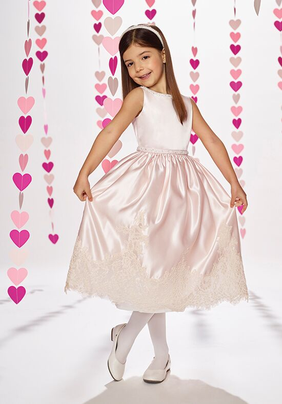 Joan Calabrese by Mon Cheri 217381 Ivory Flower Girl Dress