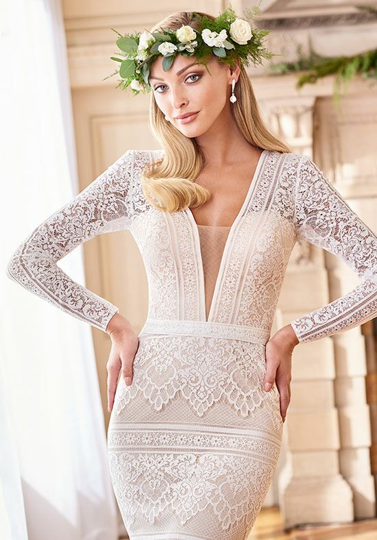 Enchanting by Mon Cheri 218169 Sheath Wedding Dress