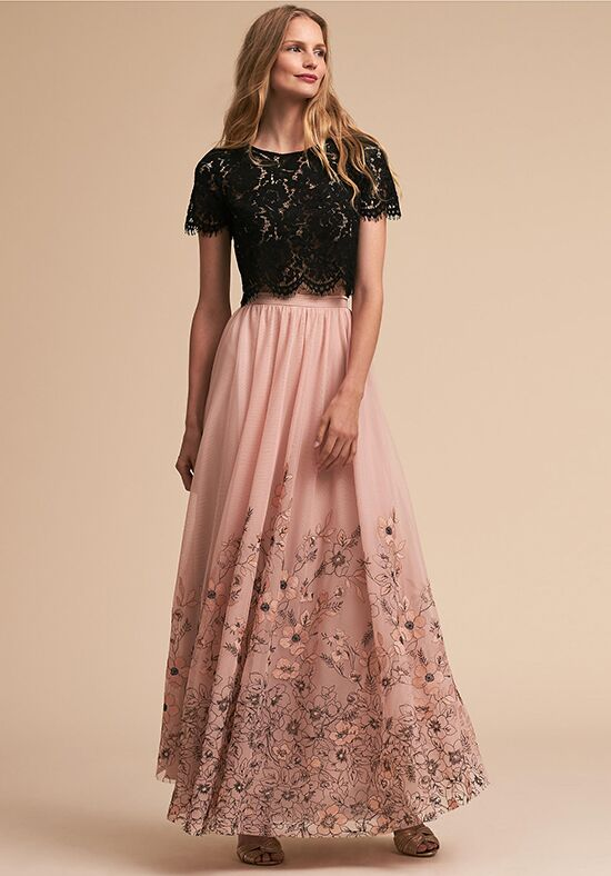BHLDN (Bridesmaids) Kenzie Top & Adoria Skirt Bateau Bridesmaid Dress