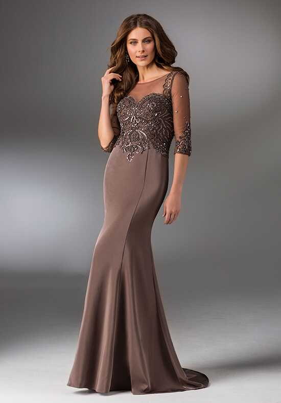 MGNY 71504 Brown Mother Of The Bride Dress