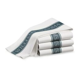 Williams Sonoma Classic Logo Towels, Set of 4, French Blue