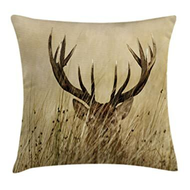 Whitetail Deer Fawn in Wilderness Stag Ambesonne Antler Decor Shower Curtain by