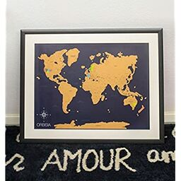 Lauren cross and chris fichman wedding registry scratch off world map poster with us states included scratchable world travel map gumiabroncs Images