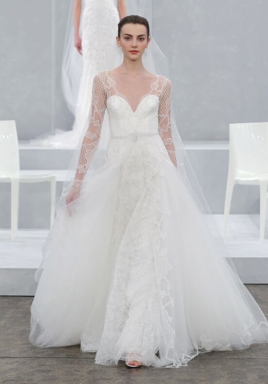 Monique Lhuillier Karlotta Sheath Wedding Dress