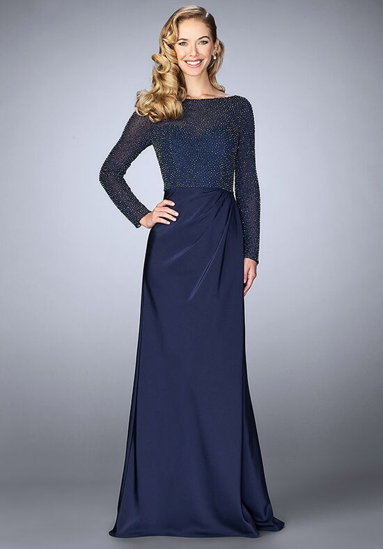 La Femme Evening 24895 Blue Mother Of The Bride Dress