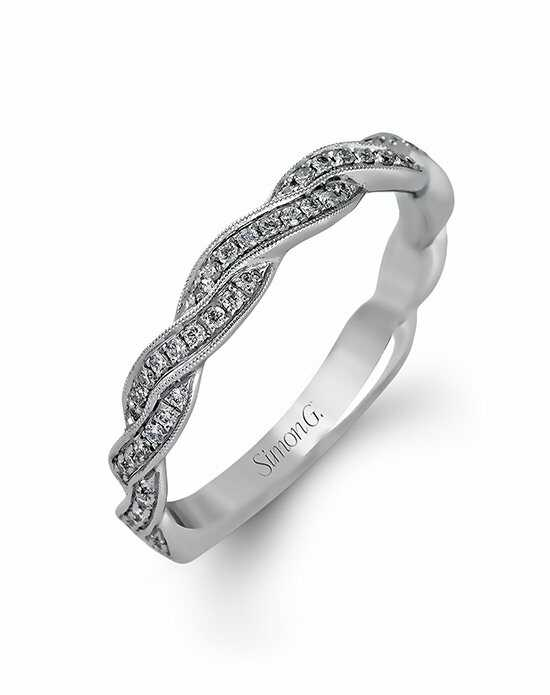 Simon G. Jewelry MR1498-B White Gold Wedding Ring