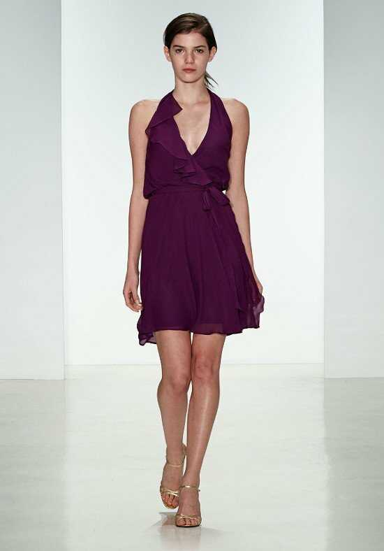 Nouvelle Amsale Bridesmaids N323 Halter Bridesmaid Dress