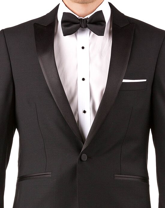 Generation Tux Black Peak Lapel Tux White, Black Tuxedo